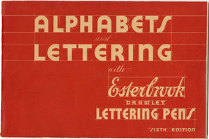 Alphabets & Lettering with Esterbrook Drawlet Lettering Pens PDF ONLY, 6th Edition