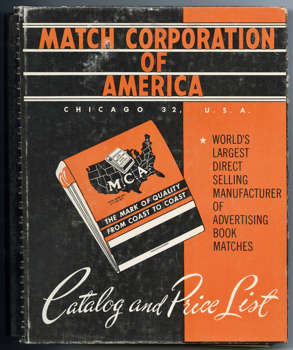 1958 MATCH Corporation of America MATCHBOOK Sample CATALOG, PDF ONLY