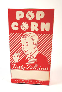 Vintage, Unused 1930's-1940's POPCORN BOX, Graphic, Vintage Movie Theater