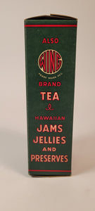 Antique, Unused 1920's WIND BRAND Hawaiian KONA COFFEE BOX, Empty, Honolulu