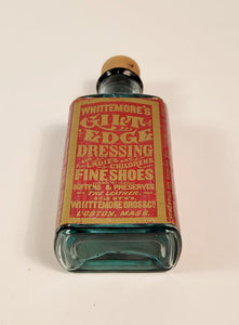 Victorian WHITTEMORE'S GILT EDGE DRESSING BOTTLE, Leather Preserver, Vintage Fashion