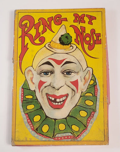 Antique 1920's-1930's RING MY NOSE, Circus Clown Children's Game, Milton & Bradley