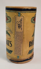 Load image into Gallery viewer, Antique 1910's-1920's ROLLED OATS CANISTER, Purity Brand, Calla Lily