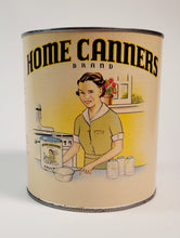 Load image into Gallery viewer, Vintage, Original HOME CANNERS BRAND Fruit Label and Tin, Vintage Kitchen