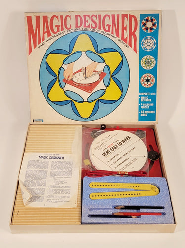 1967 Vintage MAGIC DESIGNER Children's Toy, Geometric Color Art Game