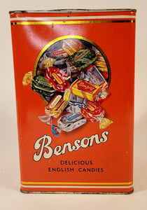 1926 BENSONS English Toffee Favorites TIN ONLY, Candy, EMPTY