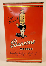Load image into Gallery viewer, 1926 BENSONS English Toffee Favorites TIN ONLY, Candy, EMPTY