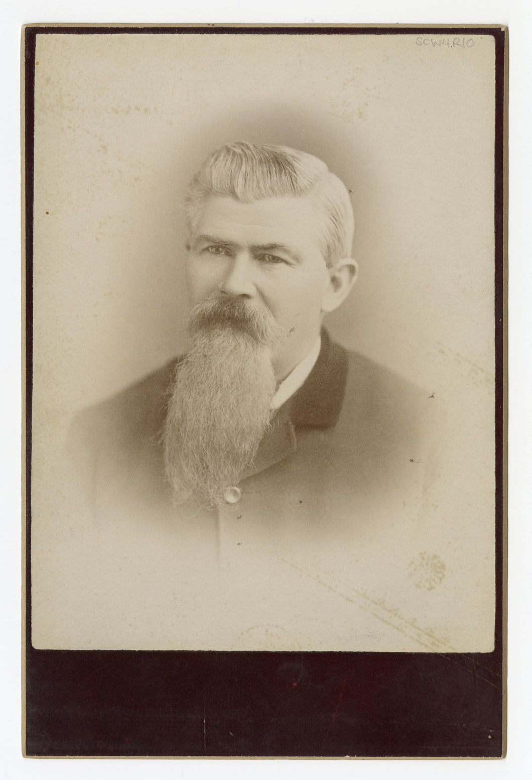 Victorian Cabinet Card, Old Man with Long Beard || William Craig Photo Artist