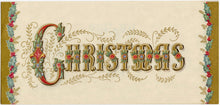 Load image into Gallery viewer, Set of Four Gorgeous Vintage Christmas Cards, PDF ONLY, Illustrated with Gold Ink