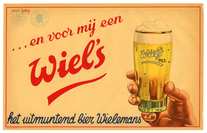 Vintage, Unused, Dutch 1930's-1940's WIEL'S BEER Crate Label