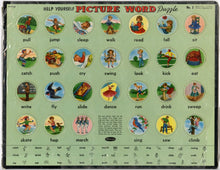 "Load image into Gallery viewer, 1958 Vintage Children's ""Help Yourself Picture World Puzzle"" No. 3 Toy/Game, Whitman"