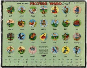 "1958 Vintage Children's ""Help Yourself Picture World Puzzle"" No. 3 Toy/Game, Whitman"