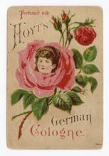 Load image into Gallery viewer, Victorian Hoyt's German Cologne Trade Card || Woman's Face inside Rose