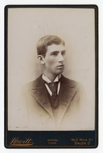Victorian Cabinet Card, Thin Young Man || Salem, Ohio