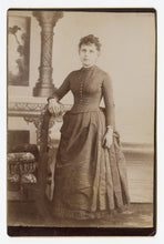 Load image into Gallery viewer, Victorian Cabinet Card, Sad Woman, Full Body || Ridgway, Pa