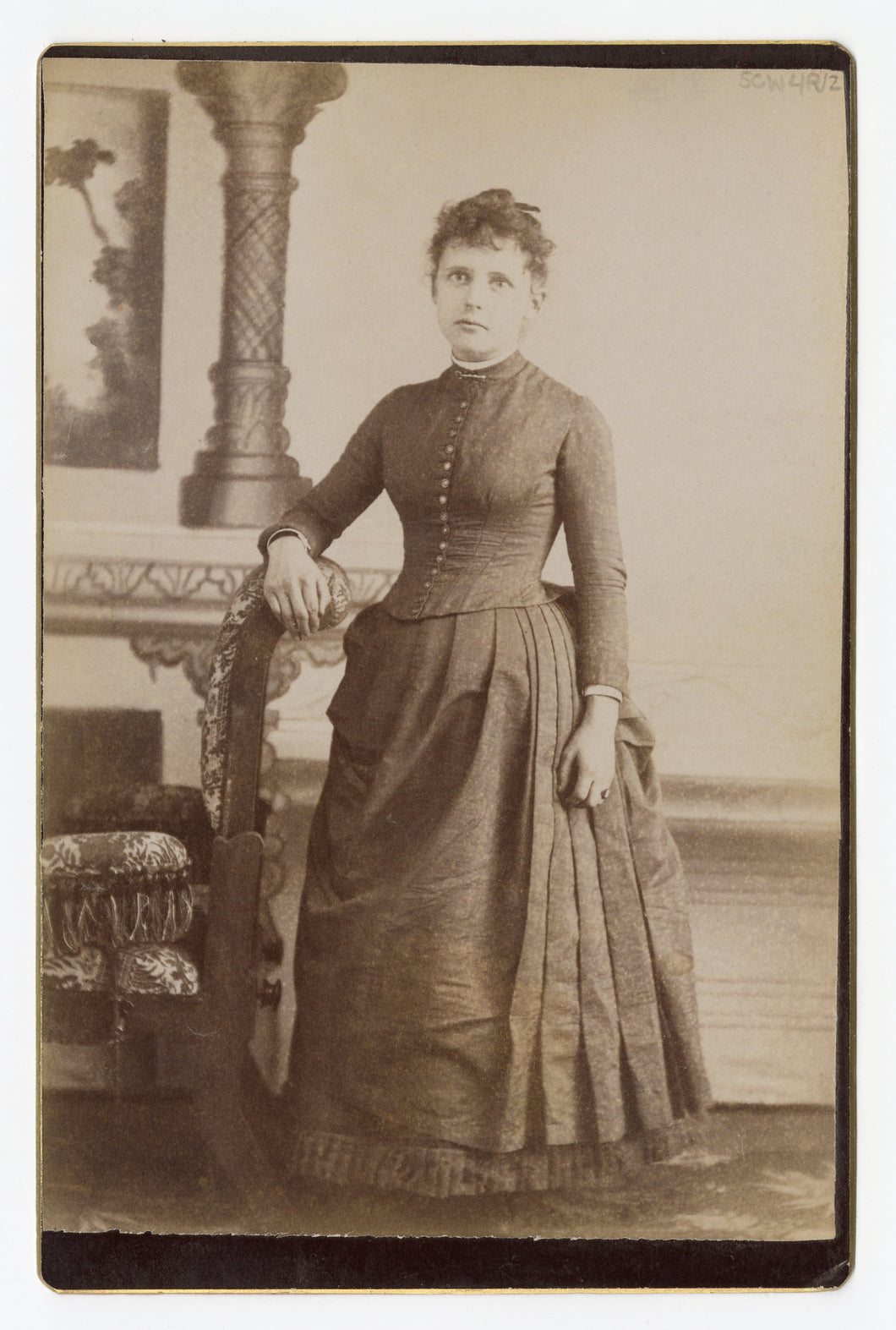 Victorian Cabinet Card, Sad Woman, Full Body || Ridgway, Pa