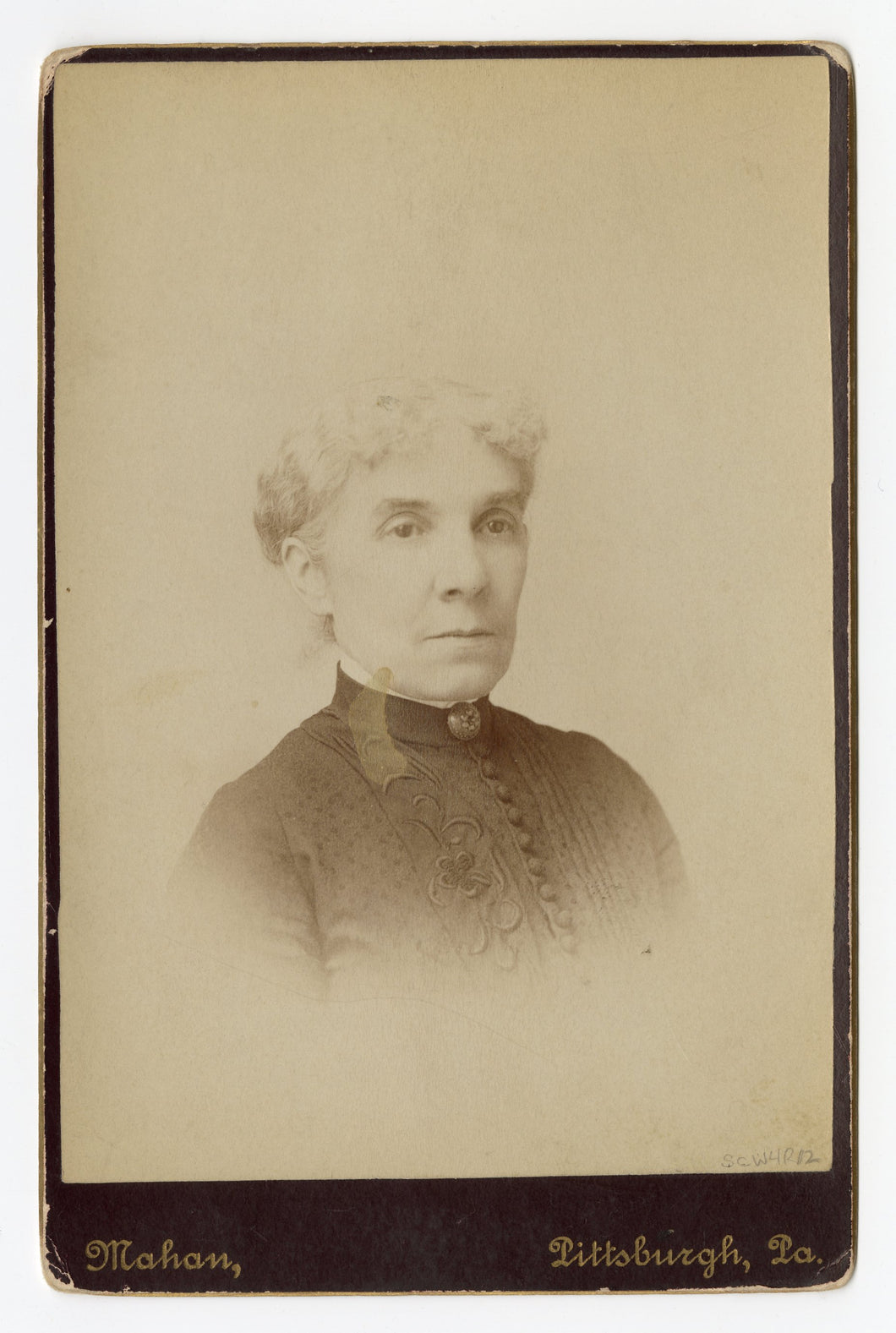 Victorian Cabinet Card, Regal Old Woman || Pittsburgh, PA.