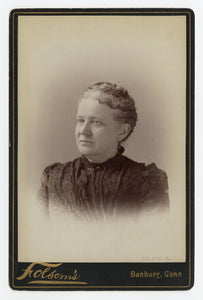 Victorian Cabinet Card, Motherly Woman || Danbury, Connecticut