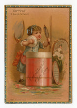 Load image into Gallery viewer, Victorian Veloutine Bath Powder French Trade Card || Health & Beauty