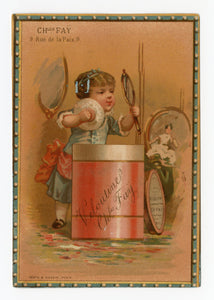 Victorian Veloutine Bath Powder French Trade Card || Health & Beauty