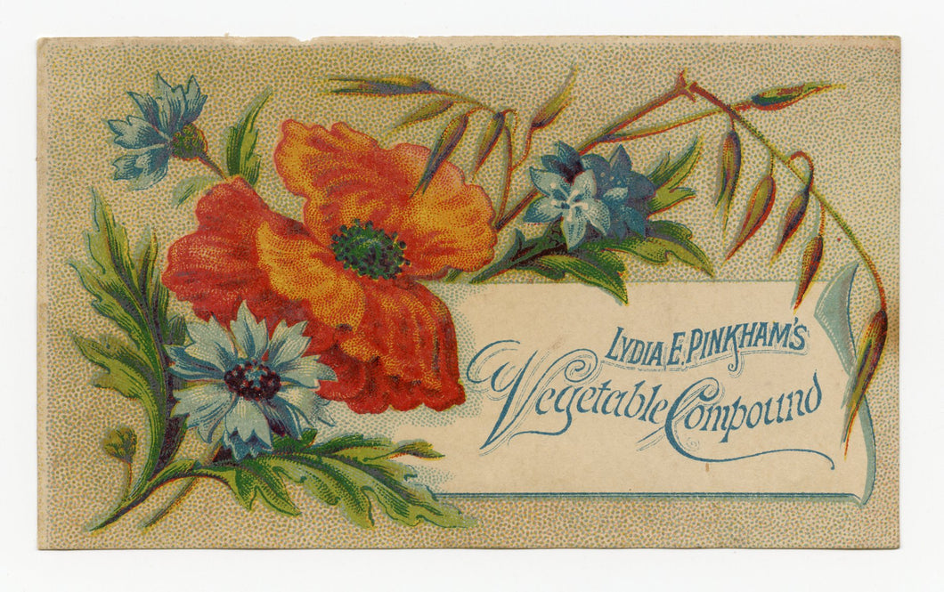 Victorian Lydia Pinkham's Vegetable Compound, Quack Medicine Trade Card