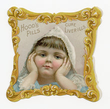 Load image into Gallery viewer, Victorian Hood's Liver Pills, Quack Medicine Trade Card A || Small Child