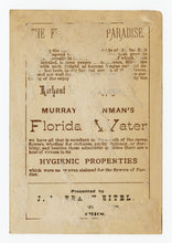 Load image into Gallery viewer, Victorian 1881 Murray & Lanman Florida Water, Perfume Trade Card