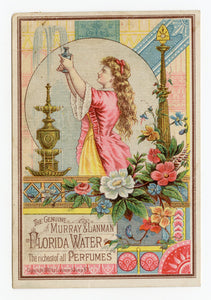 Victorian 1881 Murray & Lanman Florida Water, Perfume Trade Card