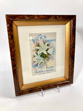 Load image into Gallery viewer, 1899 Framed VICK'S SEED CATALOG Cover/ Lithograph, Flowers, Plants
