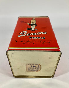 1926 Antique BENSONS English Toffee Favorites TIN ONLY, Candy, EMPTY