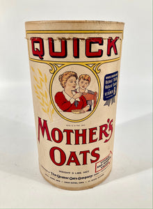 Antique Quick Mother's Oats, Cardboard Oatmeal Package, Quaker Oats
