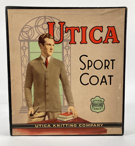 1920's Antique Utica Sport Coat, Knit Sweater Box, Vintage Fashion