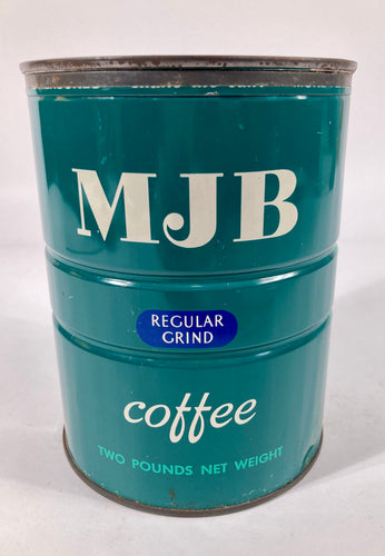 Vintage MJB Regular Grind Coffee Tin Canister, Empty