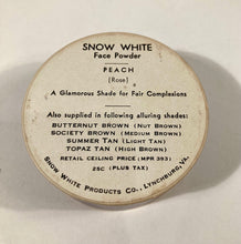 Load image into Gallery viewer, Vintage 1940's Snow White Face Powder, Full Unopened Box