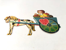 "Load image into Gallery viewer, Vintage MECHANICAL ""Cart-Load of Sweethearts"" VALENTINE 