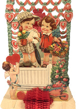 "Load image into Gallery viewer, Antique Pop-Up 1920's VALENTINE || ""Loving Thoughts on Valentine's Day"""