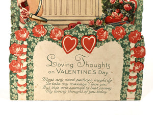 "Antique Pop-Up 1920's VALENTINE || ""Loving Thoughts on Valentine's Day"""