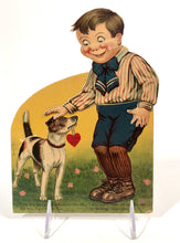 "Load image into Gallery viewer, Antique German MECHANICAL ""Lucky Dog"" VALENTINE 