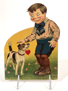 "Antique German MECHANICAL ""Lucky Dog"" VALENTINE 