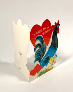 "Vintage 1960's VALENTINE Card ""For Grandma and Grandpa"" 