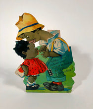 "Load image into Gallery viewer, Antique MECHANICAL 1920's Black Americana, Racist VALENTINE || ""Lookin' fo' Mah Valentine"""