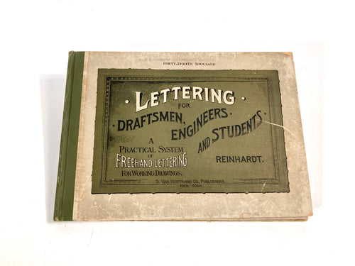 1917 LETTERING FOR DRAFTSMEN & ENGINEERING STUDENTS, Design Book