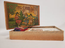 Load image into Gallery viewer, 1920's Antique KNITTING SPOOL OUTFIT Children's Game, Nearly Complete