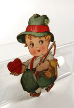 Load image into Gallery viewer, Antique MECHANICAL 1920's VALENTINE || Bavarian Boy with Moving Legs