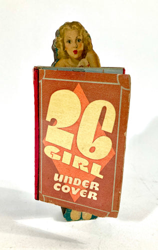 1930's Unused Naughty 26 GIRL UNDERCOVER PUNCHBOARD Game, Pinup