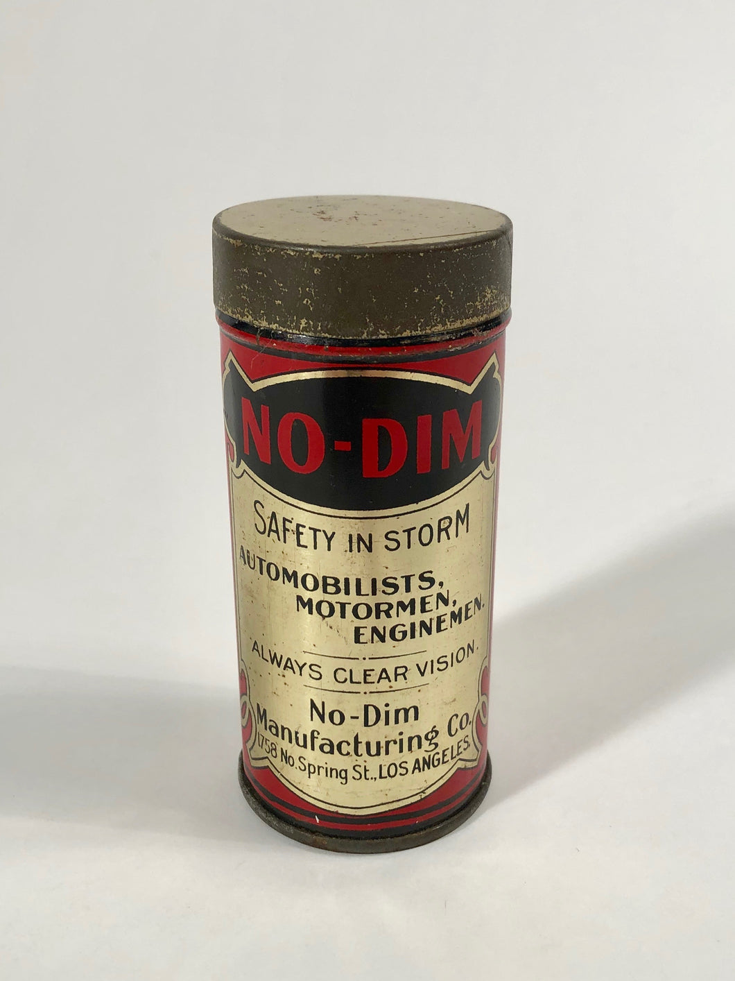 No Dim Cleaning Cloth Gold Tin Packaging - Inside Original Cleaning Cloth