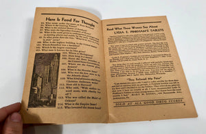 Inside -- Vintage THREE HUNDRED BRAIN TEASERS Booklet || Lydia E. Pinkham's Tablets
