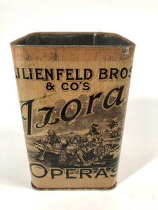 Antique Lilienfeld Bros. LA AZORA TOBACCO OPERAS TIN || EMPTY