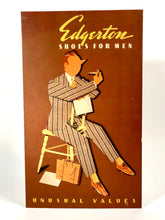 Load image into Gallery viewer, 1940's EDGERTON SHOES for Men Stand-up Advertising Sign