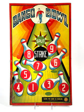 Load image into Gallery viewer, Antique Children's BANGO BOWL Game Board, Metal Sign